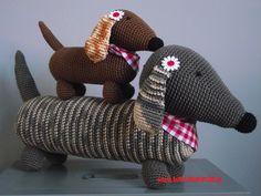 Free Amigurumi Dachshund Pattern : Anne claire petit cotton crochet dachshund dachshunds crochet