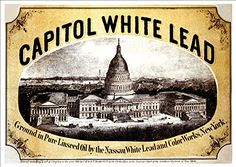 'Capitol White Lead - 1866' - A4 Glossy Print Taken From…