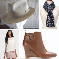 Add some flare with a fedora and ankle booties