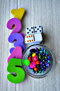 number games with pipe cleaners