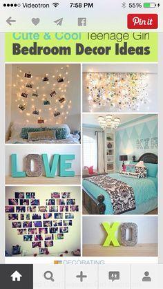 37 Insanely Cute Teen Bedroom Ideas for DIY Decor | Girls bedroom ...
