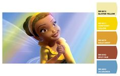 Paint colors from Chip It! by Sherwin-Williams. Inspired by Disney Fairies Iridessa.