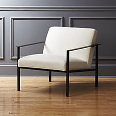 cue chair with black legs