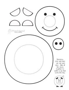 See 7 Best Images of Printable Crafts For Preschoolers. Inspiring Printable Crafts for Preschoolers printable images. Kids Printable Craft Templates Free Craft Printables Printable Pig Craft Free Printable Frog Crafts Free Printable Crafts for Girls Farm Animal Crafts, Pig Crafts, Farm Crafts, Cute Crafts, Farm Animals, Paper Crafts, Preschool Crafts, Crafts For Kids, Easy Craft Projects