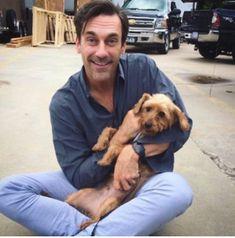 Don Draper, Jon Hamm, National Puppy Day, Mad Men, Beautiful Men, Tv Shows, Handsome, Puppies, Actors