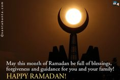 May this month of Ramadan be full of blessings, forgiveness and guidance for you and your family! Happy Ramadan!