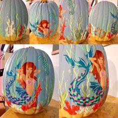 Coastal painted pumpkins!