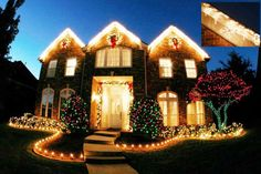 Christmas Lights on House w/ Icicles by Holiday Lighting Guy http://www.thesourcebookonline.com/index.php?txtSearchCompany=holiday+lighting+guy