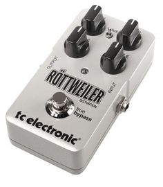 TC Electronics 960730001 Rottweiler Distortion Guitar Distortion Effect Pedal by TC Electronics. $109.99. Röttweiler Distortion goes the extra mile and delivers an unparalleled sound that will inspire you to be shredding and riffing for days. In fact, Röttweiler Distortion has been designed specifically to capture the tone and true feel of raw power that only a high-gain tube amp used to be able to deliver. The all-analog design features a unique distortion circuit ...