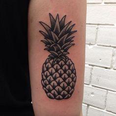 Pinneaple tattoo... but on my leg to go with my plumeria tat.