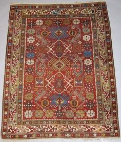 Caucasian Shirvan Rug, late 19th Century, aprox 4x6 ft (120x160 cm)