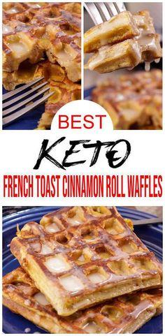 Make Ahead Breakfast, Low Carb Breakfast, Breakfast Waffles, Sweet Breakfast, Breakfast Pastries, Healthy Breakfast Recipes, Ketogenic Breakfast, Breakfast Lunch Dinner, Pancakes