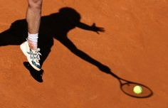 Richard Gasquet of France hit a return to Grigor Dimitrov of Bulgaria during their match at the Rome Masters tennis tournamen - Pictures of the Day - NYTimes.com