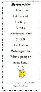 Here's a set of bookmarks for a metacognition song.