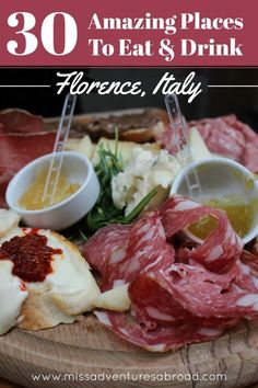 30 Great Places To Eat & Drink In Florence | The ultimate list of the best places to eat in Florence, Italy. A local's favorite Italian restaurants, aperitivo places, pizza spots and more!