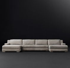 Maxwell Leather U Chaise Sectional In 2019 I Want