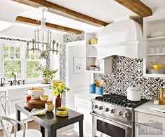 10 Beautiful Encaustic Tile Backsplashes