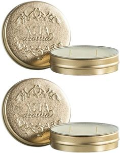 XELA Aroma Tuberose Travel Tin Candles (3 OZ) (Set of 2)