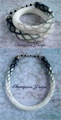 Seed Bead crochet rope necklace Beaded necklace by HandMadeInUa