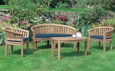 Everybody wants to insure that they have the very best there is to be had when it comes to home garden furniture. It is after all the ideal final touch for your home garden. There are certainly man… Teak Garden Furniture, Wooden Furniture, Outdoor Furniture Sets, Furniture Design, Outdoor Decor, Furniture Ideas, Home Design, Things To Come, Home And Garden