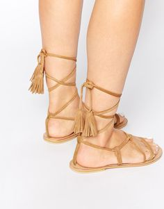 Strappy Tasseled Sandals Boho