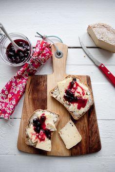 Favorite breakfast: french bread + Danish cheese + blackcurrant jam