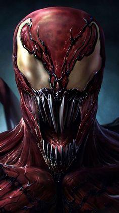 Carnage, son of the Venom Symbiote. Amazing Spiderman, Spiderman Art, Spiderman Symbiote, Marvel Comics Superheroes, Marvel Art, Marvel Heroes, Venom Comics, Marvel Venom, Marvel Villains