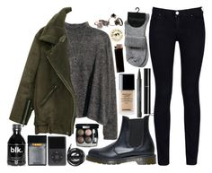 looking for the next thing by velvet-ears on Polyvore featuring Armani Jeans, Dr. Martens, Made Her Think, Monique Péan, Chanel, Burt's Bees and Urbanears