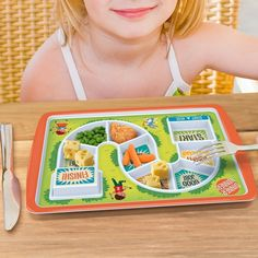 Start to finish kids plate. Work your way through dinner to uncover the treat at the end. Too funny!