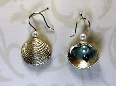 Jewelry Making Shells Basket Lucina Shell jewelry by MariMae Collection /// Seashell Jewelry, Seashell Necklace, Seashell Crafts, Sea Glass Jewelry, Bridal Jewelry, Shell Earrings, Shell Necklaces, Beaded Earrings, Beaded Jewelry