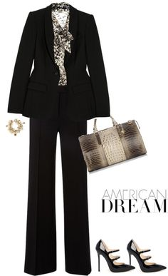 """Blouse by L'AGENCE"" by fashionmonkey1 ❤ liked on Polyvore"