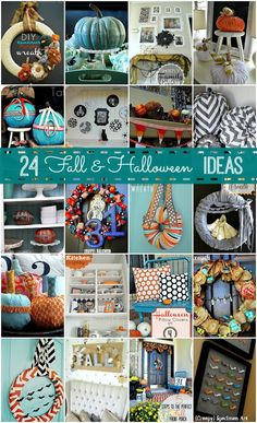24 Fall & Halloween DIY Projects at Tatertots and Jello!! #DIY #Falldecorating #fall