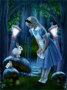 "Alice in Wonderland - ""I knew who I was when I woke up this morning, but I've changed several times since then..."""