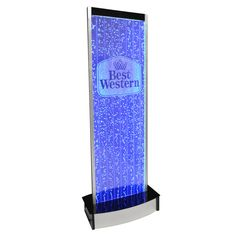 "600LE 71"" Custom Bubble Wall with Your Business Logo Water Feature Indoor Fountain"