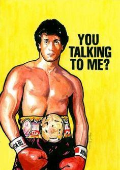 Rocky Balboa print by Miguel Ferrera Rocky Legends, Stallone Rocky, 80s Classics, Silvester Stallone, Rocky 3, Float Like A Butterfly, Rocky Balboa, Comic Books Art, Horror Movies