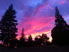 Fall sunset, Placerville, CA 2014