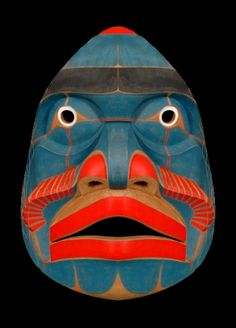 disaberger: Bella Coola Komokwa Mask Kwaguilth, Native American (via Arte Haida, Native American Masks, Art Tribal, Creation Art, Art Premier, Art Sculpture, Masks Art, African Masks, Arte Popular
