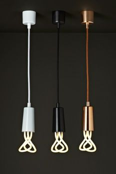 Plumen 001 Bulbs... pretty cool, no need for lamp shades.