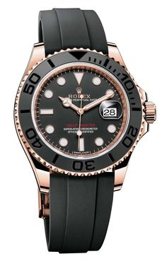"ROLEX Yacht-Master 116655 Watch In Everose Gold With Black Ceramic Bezel For 2015 - by Ariel Adams - see more now on aBlogtoWatch.com ""New for 2015, Rolex has debuted a very attractive and sporty new version of the Rolex Yacht-Master that now comes on a new type of strap called Rolex Oysterflex. More on that in a second. This reference 116655 Yacht-Master is 40mm wide but there will also be the 37mm wide ref. 268655 Yacht-Master. Unlike the traditional Yacht-Master that has been known for…"