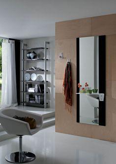 Modern előszobafal - www.montegrappamoblili.hu Bathroom Medicine Cabinet, Bathroom Lighting, Wall Decor, Hall Design, Modern, Mirror, Furniture, Home Decor, Spring