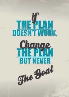 #setyourgoalsaturday #change #planning #takeit