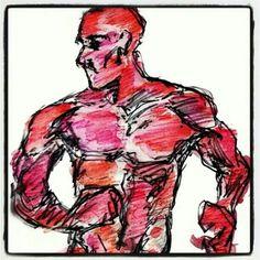 """Ilustração criado pelo artista ilustrador Pedro Angelo Oliveira. Arte """"homem em movimento"""" visite seu blog www.123Pedro.blogspot.com.br"""
