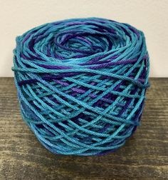 Best of Both Worlds  Hand Dyed 100% Cotton Worsted Weight