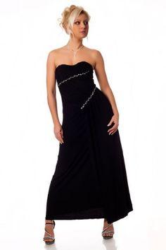 Black Elegant Long Strapless diamante Evening Cocktail Dress Size 10 / 12 maxi boob tube - party, wedding, full length prom ball bridesmaid gownplanet italy gownplanet, http://www.amazon.co.uk/dp/B004P9TURQ/ref=cm_sw_r_pi_dp_DIplsb0TENV0Y