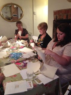 Hen party workshop - making confetti cones and painting pebbles