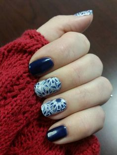 Beta and Fractal Jamberry manicure