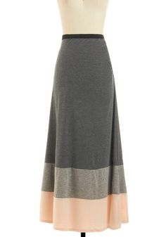 Bookstore Belle Skirt - I love long skirts. and grey is always a good idea.