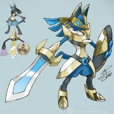 I've been tossing around this idea of a Lucario and Aegislash DNA Splicer-type fusion for months, and with the announcement of Sword & Shield, I don't think there's a better time to design it. : pokemon Source by simonekatrin month meme Pokemon Mew, Lucario Pokemon, Pokemon Comics, Pokemon Funny, Pokemon Cards, Charizard, Pokemon Fusion Art, Pokemon Fan Art, Equipe Pokemon