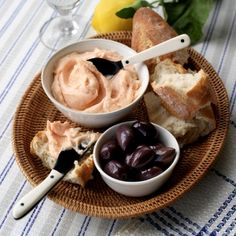 Taramasalata  - make it adding mascarpone, garlic, yogurt. lemon juice and seasoning