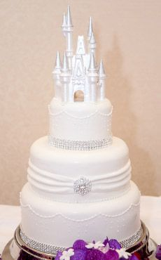 cinderella castle royal wedding cake topper spectacular pink gold disney wedding cake after 12852